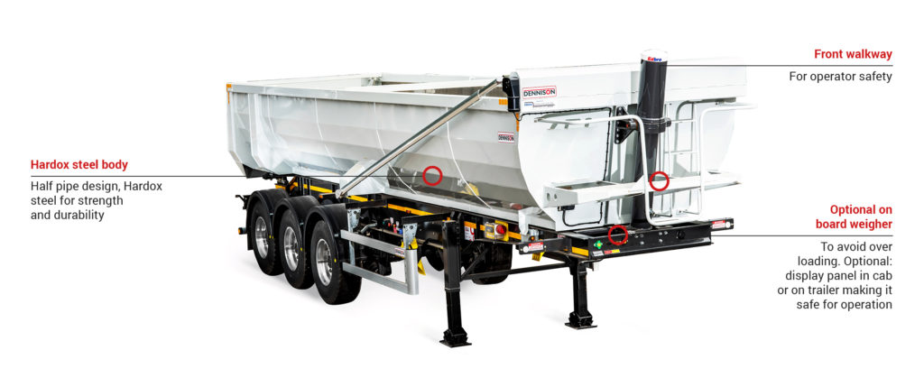 Dennison 35 Fixed Cubic yard Tipper