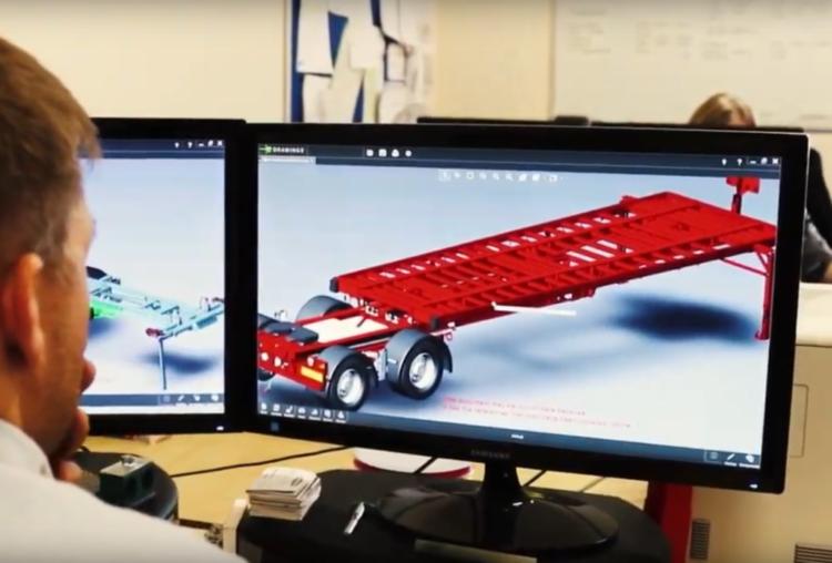 Dennison Employee Designing Trailers